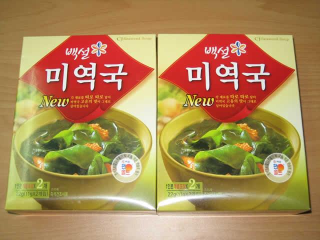 Korean seaweed soup 22g (11g * 2 packages