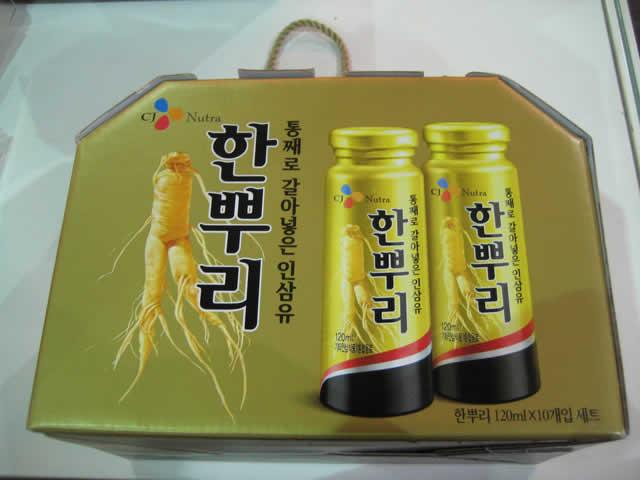 高麗白人蔘液飲料禮盒(120g*10瓶)